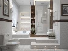 Освещение пола ванной в напольных конструкциях