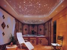 Имитация звездного неба в ванной комнате