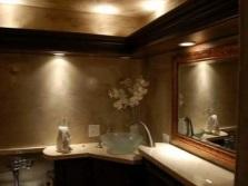 Неяркое освещение ванной