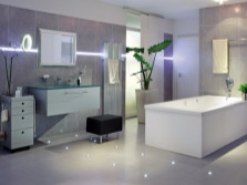 Напольное освещение ванной комнаты