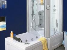 Акриловая ванна с душевой кабиной