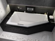Акриловая ассиметричная ванна от бренда