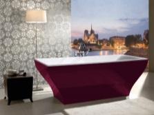 Акриловая ванна вишневого цвета