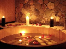 Расслабляющая ванна дома