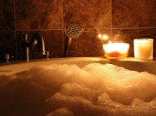 Ванна с ароматной пеной