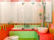 Ванная - салатовый и красный