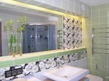 Светло-салатовая ванная