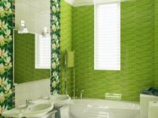 Салатовая ванная с зеленым