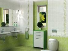 Салатовая ванная
