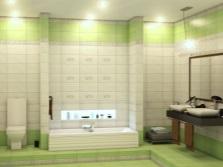 Бежево-салатовая ванная
