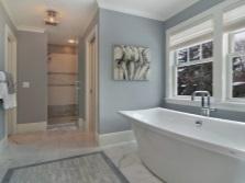 Светлые оттенки серого для ванной