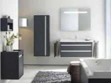 Необычная фактура и серый цвет мебели