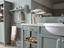 Серая мебель для серой ванной