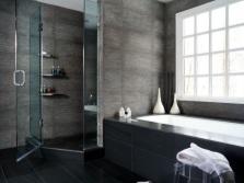 Серо-черная ванная