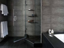 Ванная в черных и серых тонах