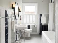Серо-бело-черная ванная