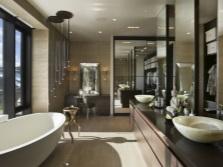 Столики для ванной с двумя раковинами