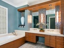 Дополнительное освещение столика для ванной комнаты