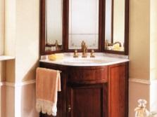 Угловые столики в ванной комнате