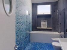 Синие оттенки в морской ванной