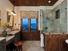 Ванная - дизайн в стиле кантри