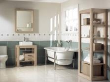 Ванная в стиле кантри с ванной на ножках