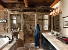 Красивая ванная в стиле кантри