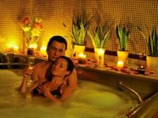 Романтическое свидание в ванне