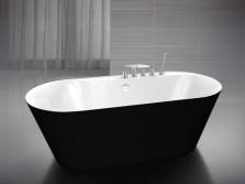 Черная ванна BelBagno в стиле модерн