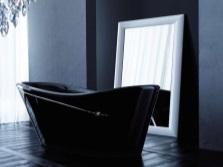 Черная ванна с камнями Сваровски