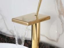 Золотой водопадный кран