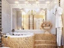 Встраиваемая ванна круглой формы с подиумом