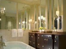 Подсветка больших зеркал в ванной
