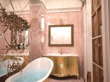 Терракотовая ванная с злолотом