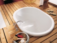 Маленькая стальная ванна