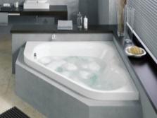 угловая стальная ванна