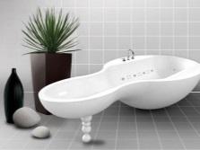 Ассиметричная акриловая ванна