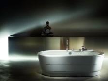 Стальная ванна отдельностоящая