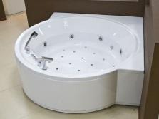 Угловая круглая акриловая ванна