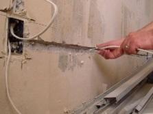 Перенос электрики в ванной комнате