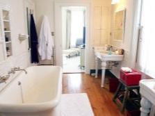 Овальная ванная в небольшой ванной по фен-шуй