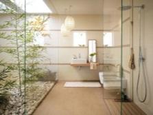 Фен-шуй ванной комнаты с душевой