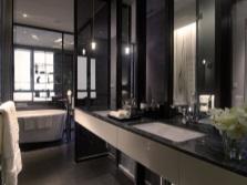 Дизайн ванной комнаты в черном цвете