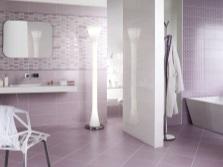Светло-сиреневая ванная комната