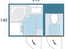 Планирование ванной комнаты - схема