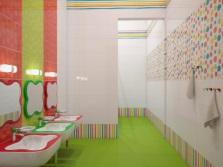 дизайн ванной комнаты - разноцветность
