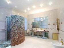 дизайн ванной комнаты с душевой из мозаики