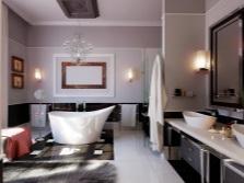 эффектный дизайн ванной комнаты