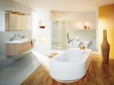 приятный дизайн ванной комнаты