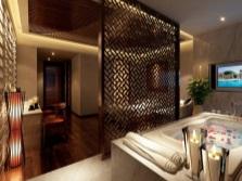 дизайн ванной комнаты с перегородкой